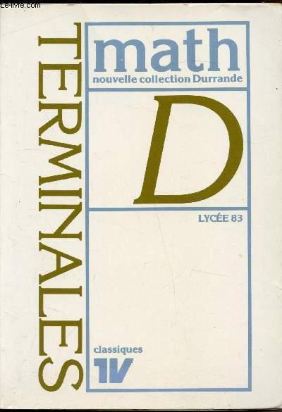 Mathématiques, Terminale D