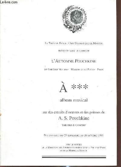 Lautomne Pouchkine A Album Musical