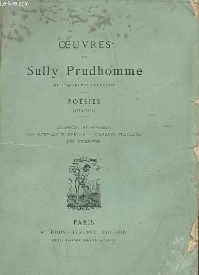Oeuvres De Sully Prudhomme Poesies 1865