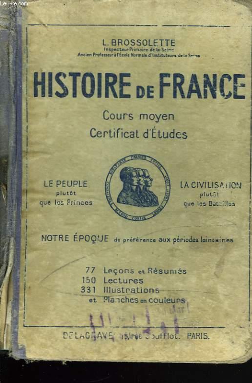 Histoire De France Cours Moyen Certificat