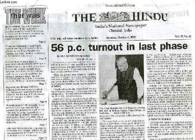 THE HINDU, 1999-2004, 201 NUMEROS, INDIA'S