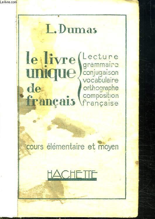 Le Livre Unique De Francais Cours
