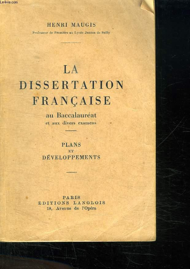 Successful Essay: Dissertation francais bac es order a great thesis!