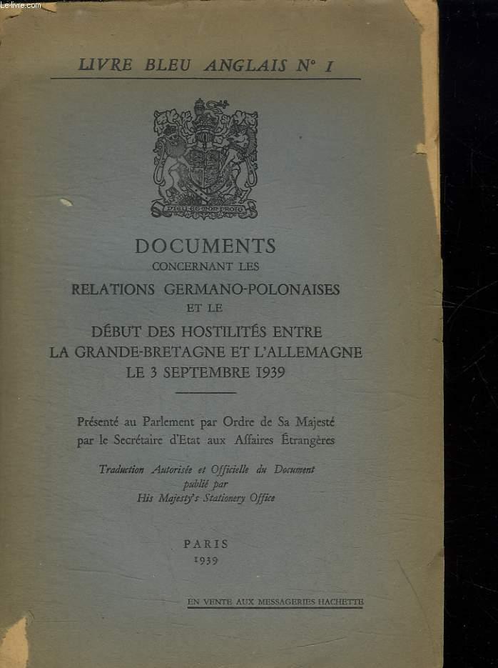 Livre Bleu Anglais N 1 Documents