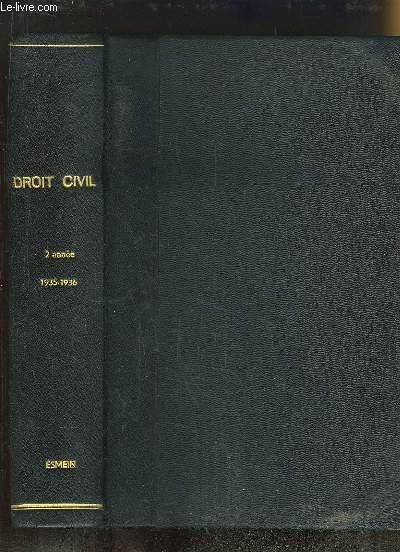 r u00e9p u00e9titions  u00e9crites de droit civil  2 u00e8me ann u00e9e  1935