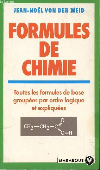 Formules de chimie