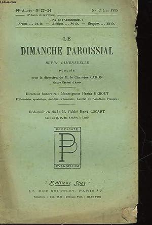 LE DIMANCHE PAROISSIAL - REVUE BIMENSUELLE: COLLECTIF