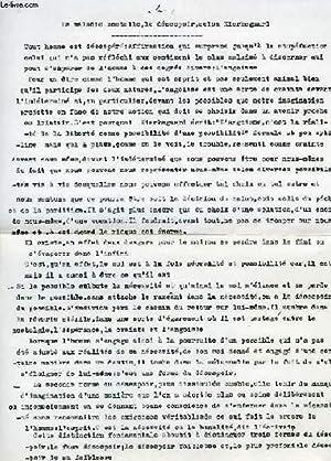 KIERKEGAARD ET MAINE DE BIRAN (CONFERENCE, MANUSCRIT): DAMIENS SUZANNE
