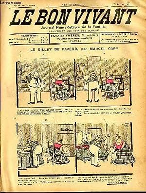 Le bon vivant n°89 - Le billet: MARCEL CAPY