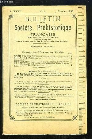 Bulletin de la Société Préhistorique Française. N°1 - Tome 32 : ...