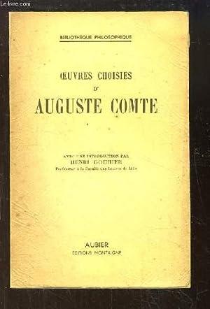 Oeuvres choisies d'Auguste Comte: COMTE Auguste