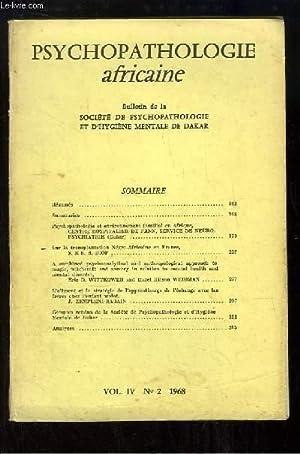 Psychopathologie Africaine. Bulletin N°2 - Volume 4: COLLECTIF