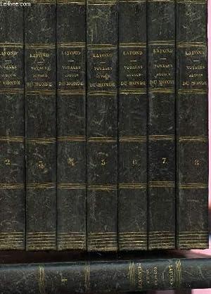 VOYAGES AUTOUR DU MONDE ET NAUFRAGES CELEBRES - EN 8 VOLUMES.: LAFOND G (CAPITAINE)
