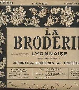 LA BRODERIE LYONNAISE N°1045 : 4 GARNITURES POUR LINGERIE.: PETRUS GRANJARD ET LAURENT ...