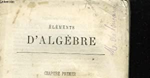 ELEMENTS D'ALGEBRE: NON PRECISE