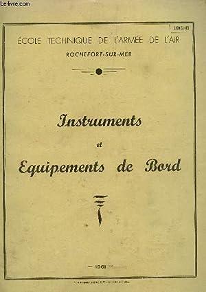 INSTRUMENTS ET EQUIPEMENTS DE BORD (2800-52-103).: COLLECTIF