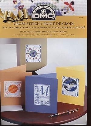 CROSS-STITCH / POINT DE CROIX millenium cards: COLLECTIF