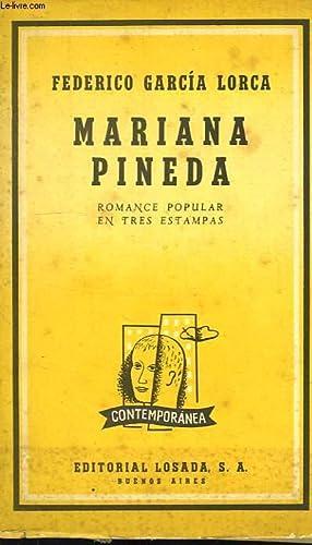 MARIANA PINEDA, ROMANCE POPULAR EN TRES ESTAMPS (1927): GARCIA LORCA FEDERICO