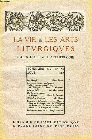 LA VIE & LES ARTS LITURGIQUES, N° 56, AOUT 1919: COLLECTIF