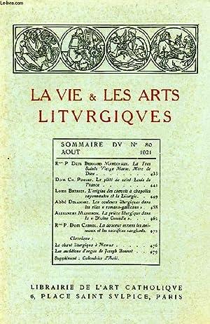 LA VIE & LES ARTS LITURGIQUES, N° 80, AOUT 1921: COLLECTIF