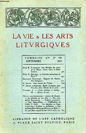 LA VIE & LES ARTS LITURGIQUES, N° 129, SEPT. 1925: COLLECTIF