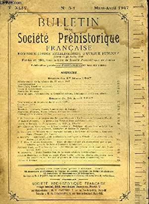 BULLETIN DE LA SOCIETE PREHISTORIQUE FRANCAISE - N°3-4: COLLECTIF