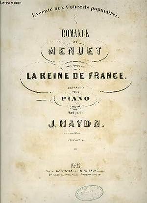 ROMANCE ET MENUET DE LA SYMPHONIE DE: HAYDN J.