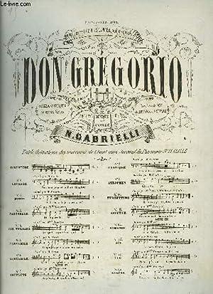 DON GREGORIO: GABRIELLI N. / DE LEUVEN / SAUVAGE