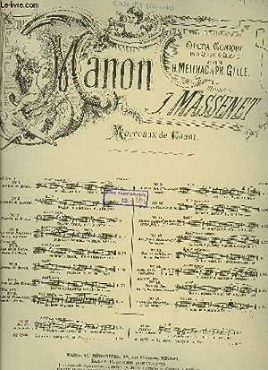 MANON: MASSENET J. / MEILHAC H. / GILLE Ph.