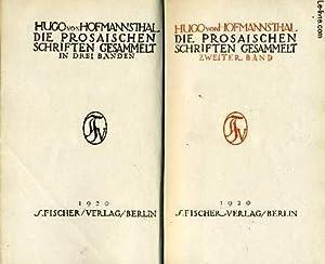 DIE PROSAISCHEN SCHRIFTEN GESAMMELT IN DREI BÄNDEN: ZWEITER BAND.: HOFMANNSTAHL Hugo (von)