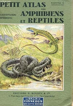 PETIT ATLAS DES AMPHIBIENS ET REPTILES / FASCICULE II : LACERTILIENS - OPHIDIENS.: ANGEL F.