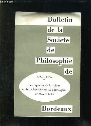 BULLETIN DE LA SOCIETE DE PHILOSOPHIE DE: DARDON ANDRE.