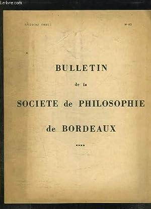 BULLETIN DE LA SOCIETE DE PHILOSOPHIE DE BORDEAUX N° 82. MORALE ET FOI CHRETIENNE PAR MONSIEUR ...