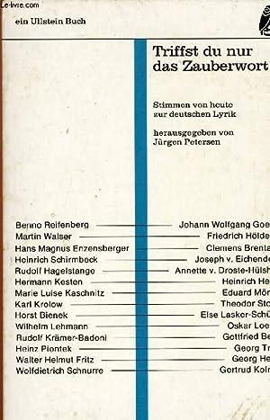 TRIFFST DU NUR DAS ZAUBERWORT: PETERSEN Jürgen (hrsg.)