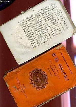 QU'EN FERA -T-IL? - EN 2 VOLUMES - ROMAN ANGLAIS.: BULWER LYTTON EDWARD