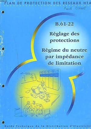 PLAN DE PROTECTION DES RESEAUX HTA. B.61-22. REGLAGE DES PROTECTIONS. REGIME DU NEUTRE PAR ...