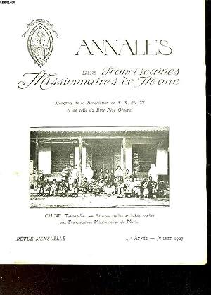 ANNALES DES FRANCISCAINES HISSIONNAIRES DE MARIE - 41° ANNEE: COLLECTIF