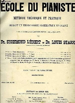 ECOLE DU PIANISTE: LEBERT Sigismond / STARK Louis