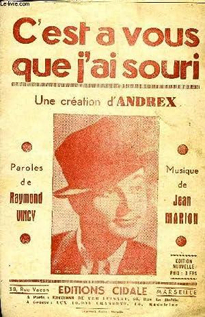 C'EST A VOUS QUE J'AI SOURI: MARION Jean / VINCY Raymond