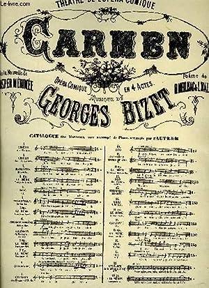 CARMEN: BIZET Georges / MEILHAC H. / HALEVY L.
