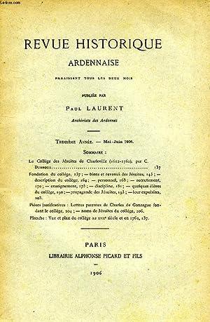 REVUE HISTORIQUE ARDENNAISE, 13e ANNEE, MAI-JUIN 1906: COLLECTIF