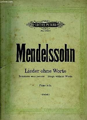 LIEDER OHNE WORTE (ROMANCES SANS PAROLES -: MENDELSSOHN