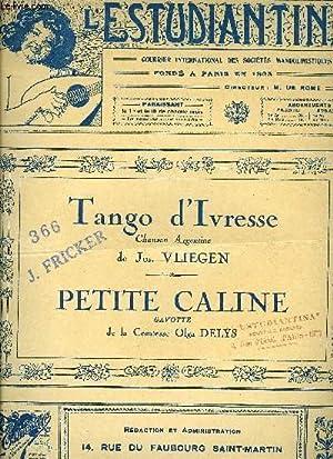 TANGO D'IVRESSE / PETITE CALINE: VLIEGEN Jos. / DELYS Olga, comtesse