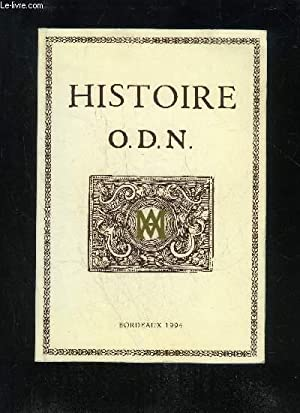 HISTOIRE O.D.N. - LIVRES I A XIII: SOURY-LAVERGNE FRANCOISE