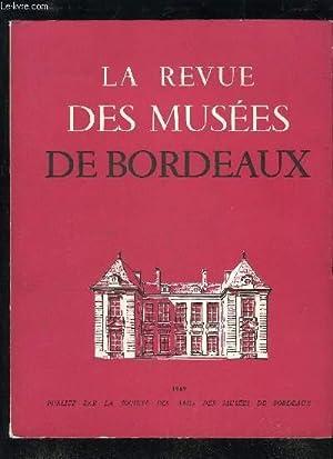LA REVUE DES MUSEE DE BORDEAUX - 1969 - LE TRESOR DES SESTERCES DE GARONNE.LE SANCTUAIRE ...