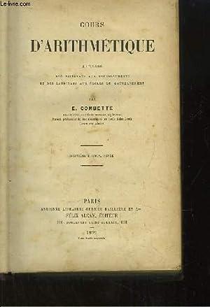 Cours d'Arithmétique.: COMBETTE E.
