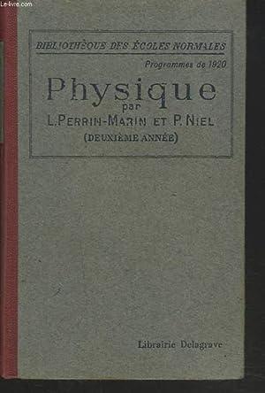 COURS DE PHYSIQUE (DEUXIEME ANNEE) PREPARATION AU BREVET SUPERIEUR.: L. PERRIN-MARIN, P. NIEL