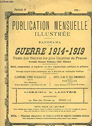 PUBLICATION MENSUELLE ILLUSTREE - PANORAMA DE LA GUERRE 1914-1919 - N°16: COLLECTIF