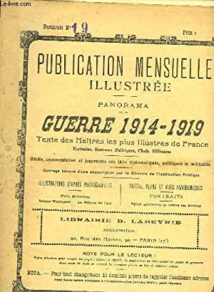 PUBLICATION MENSUELLE ILLUSTREE - PANORAMA DE LA GUERRE 1914-1919 - N°19: COLLECTIF