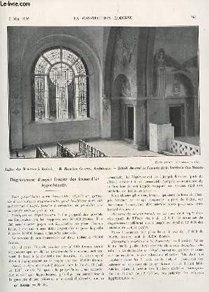 LA CONSTRUCTION MODERNE : 41 ANNEE - FASCICULE N°31 - 2 MAI 1926 / DEGREVEMENT D'...